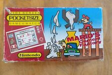 1983 **Rare** **POCKETSIZE** NINTENDO Game and Watch Mario Cement Factory!!