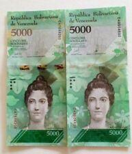 ***Sets of 2 variants. Venezuela 5.000 bolivares banknotes. 2017. UNC. (RR).