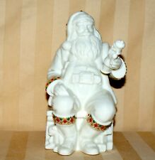 Lenox Jewels Sitting Santa 5th in Series Excellent 6.5""