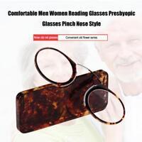 Pinch Nose Reading Glasses Luxury light Presbyopic eyewear Men women With BG