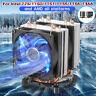 6 Pipes 2 Fan LED CPU Cooler Heatsink for Intel 775/1150/1151/1155/1156/1366 AMD