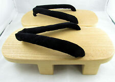Japanese Geta Clog Sandal Slipper Wooden Bottom for Kimono Flip Flop Black 7/8/9