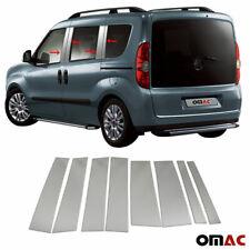 For RAM Promaster City 2015-2020 Chrome Window Panel B Pillar Trim S.Steel 8 Pcs