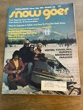 New Listing1973 September Snow Goer Snowmobile Magazine Julian Alps in Yugoslavia