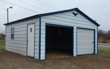 Steel Two Car Garage Carport Workshop 24x31x9 Metal Building FREE DELIVERY SETUP