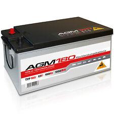 Versorgungsbatterie AGM 180 - 12 V 180 Ah 1050 A/EN Solar Antrieb Traktor Boot