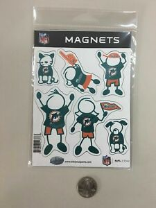 PJ8) Siskiyou Miami Dolphins Family Magnet Set of 6 Mom Dad Son Daughter Cat Dog