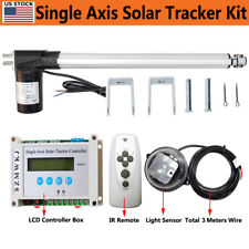 Electric 12v Solar Track Tracker With 6000n 18 Linear Actuator With Lcd Controller