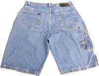Fubu Vintage Men's Size 42 Carpenter Utility Denim Jean Shorts Baggy