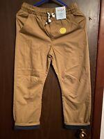Carhartt Boys 4 Cargo Pants Brown Adjustable Waist Cotton Size 10 & 12 Husky