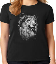 Collie Face T-shirt for Women Ladies Tee Dog Breed Dog Person Gifts for Her