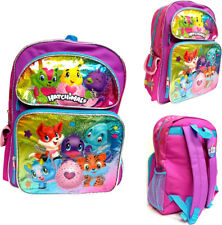 "Hatchimals Large School Backpack 16"" Canvas Girl's Book Bag"