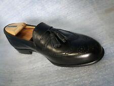 Florsheim Royal Imperial Black Leather Wingtip DressTassel Loafers Men sz 10 D