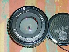 NIKON Series E 50mm F/1.8 manual focus Lens Pancake, all Black