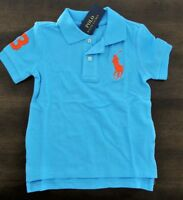 NEW Ralph Lauren SS Custom Fit Big Pony Solid Mesh Polo Shirt 10/12 14/16 18/20