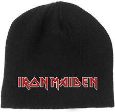IRON MAIDEN Classic Band Logo BEANIE EMBROIDERED 3D LOGO MÜTZE