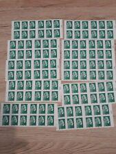 Lot De 10 Carnets de Timbres Lettre Verte
