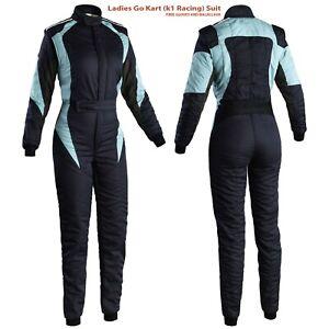 Girl Women GO KART Race suit CIK/FIA Level  and Balaclava Men Women K1 Racing