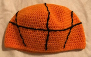 Crochet Baby Size Basketball Hat Beanie Sports Party Photo Prop March Madness