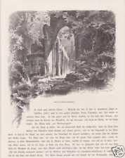 Allerheiligen-Wasserfälle Mummelsee HOLZSTICHE um 1880