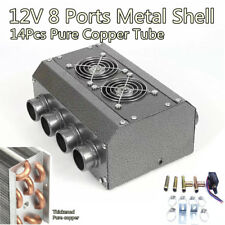 Universal Car Under-dash Heater 12V Dual Sides 8 Port 14 Pass All Copper Coil