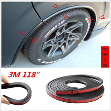 118'' Body Kits Black Car Fender Flares Wheel Eyebrow Protector Lip Wheel-Arch