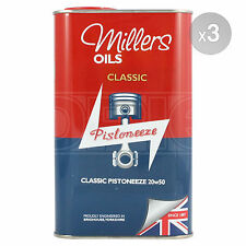 Millers Oils Classic Pistoneeze 20W-50 Mineral Engine Oil - 3 x 1 Litre 3L