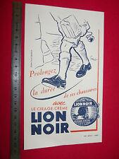 BUVARD CIRAGE CREME LION NOIR IMPRIMERIE DIEVAL PARIS STUDIO BERNHEIM 1950-1960