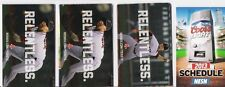 LOT OF 4 DIFFERENT 2013 BOSTON RED SOX MLB POCKET SCHEDULES - FREE SHIPPING!