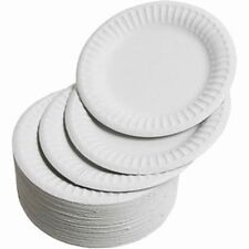"200 x 9"" WHITE PAPER PLATE SET 23CM DISPOSABLE PLATES WEDDING PARTY BBQ PICNIC"