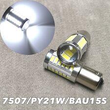 Front Turn Signal BAU15S 7507 PY21W samsung 33 SMD LED 6000K White Bulb W1 JAE
