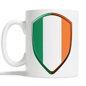Irish Flag Mug Coffee Cup Gift Idea Rugby Sports 6 Nations Ireland Badge JA117