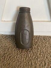 Vintage Justrite Carbide Coal Miner's Pocket Tin - Flask - Bottle - Can