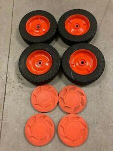 Scotts Gas Edger/Trimmer Wheels Tires Hubcaps E3009000 Code 4084