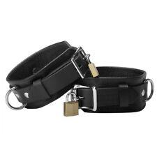 Strict Leather Deluxe Locking Bondage Belt Domination - Black