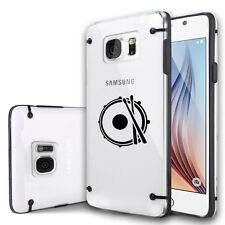 For Samsung S7 S5 S6 Edge Note Clear Hard TPU Case Cover Drum Snare Drumsticks