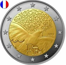 * LOT DE 5 PIECES -- 2 € COMMEMORATIVE - UNC - FRANCE 2015 - 70 ANS PAIX