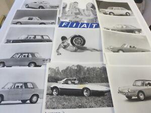 1970 Fiat Press Kit Brochure Photos 124 850 Spider Sedan Racer Bertone 124S +