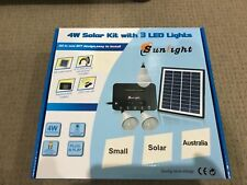 Solar Indoor Lights for Farm Shed with all cables **- Free Post  Aussie Stock !