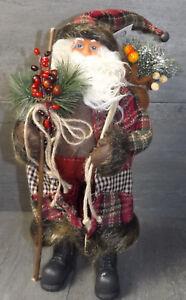 Papá Noel Grande Decoración Navidad Decoración de Navidad 47cm Nostalgia