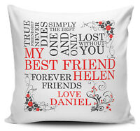 My Best Friend Personalised Cushion Cover + Inner/Insert