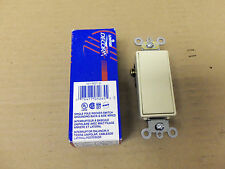 New Leviton 5621-2I Wall Switch, Ivory 20A Fire Alarm