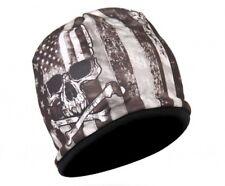 SKULL American Flag Beanie Knit Cap Motorcycle Biker Hat USA Ski Snowboard
