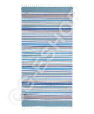 TELO MARE FOUTA COTONE 100x200 mod. TERESA riga blu azzurro bianco