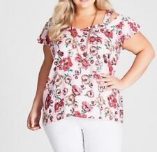 Plus Size Autograph Cold Shoulder Pink Floral Printed Top Size 18 Post
