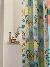 New listing New Multi-Color Flip Flop Beach Sandals Fabric Shower Curtain