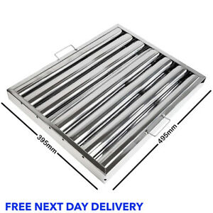 Canopy Grease Baffle Filter Stainless Steel Kitchen Extraction Hood 495x395mm