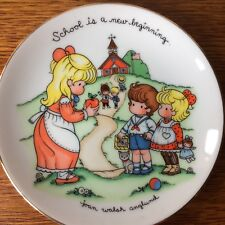 """Vintage Joan Walsh Anglund Plate 1986 Avon """"School is a New Beginning� Porcelain"""