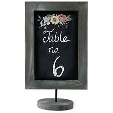 12 Inch Torched Wood Framed Blackboard, Tabletop Chalkboard, Cafe Menu Board