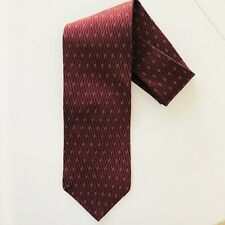 Murano Men's Necktie Red Maroon Diamond 100% Silk Made In USA